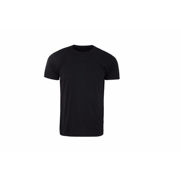 Mens Athletic All Sport Training Tee Shirts Hyper Dry Black FSK