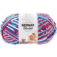 Bernat Blanket Brights Big Ball Yarn - Red, White & Boom