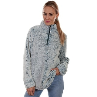 Scully Western Sweater Womens Soft Sherpa Faux Fur Band Collar HC337