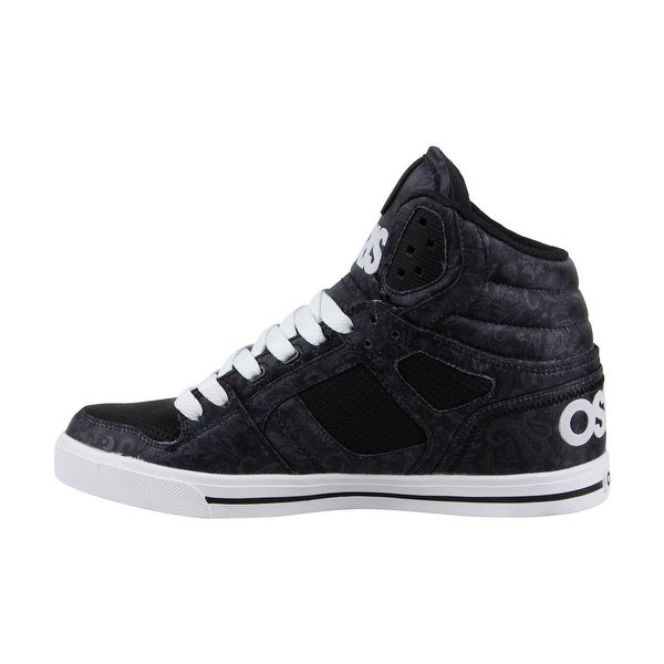 Shop Osiris Clone Mens Black Leather Sneakers Lace Up Skate