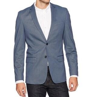 Calvin Klein NEW Blue Mens Size XL Two Button Notch-Collar Blazer