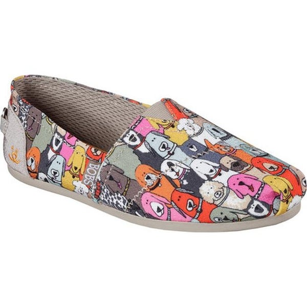 3aa6e9234bb Shop Skechers Women s BOBS Plush Wag Party Alpargata Multi - On Sale ...