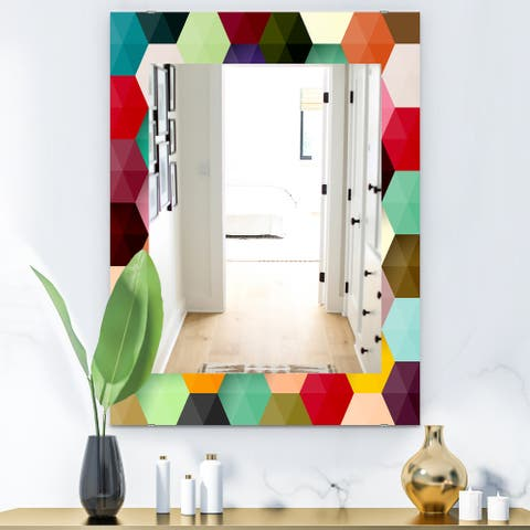 Designart 'Honeycomb 5' Mid-Century Mirror - Vanity Mirror