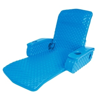 """69"""" Bahama Blue Super Soft Adjustable Recliner Swimming Pool Lounge Chair - N/A"""