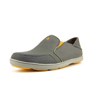 Olukai Nohea Men Round Toe Synthetic Gray Loafer
