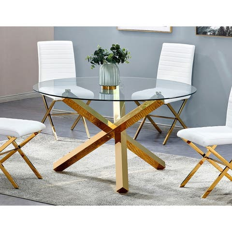 Best Master Furniture 54-inch Round Dining Table