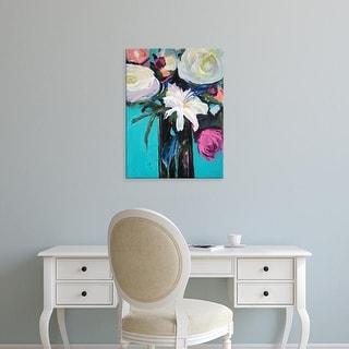 Easy Art Prints Jacqueline Brewer's 'White Lily' Premium Canvas Art