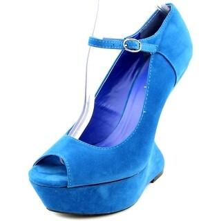 Liliana Grace 2 Women Open Toe Synthetic Wedge Heel