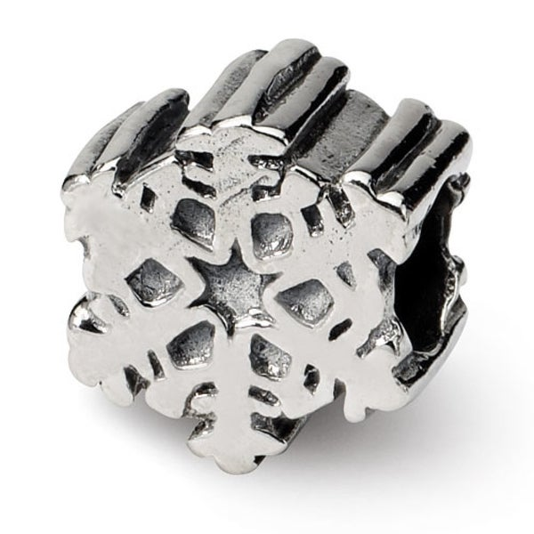 Sterling Silver Reflections Snowflake Bead (4mm Diameter Hole)