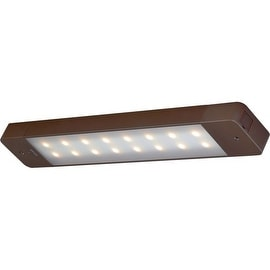 "Vaxcel Lighting X0004 16"" Length LED Motion Instalux Under Cabinet Light Bar - Energy Star Rated - Bronze"