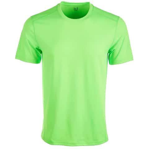 Ideology Mens Activewear Neon Green Size 3XL Core Crewneck Mesh-Back S/S Tee 169