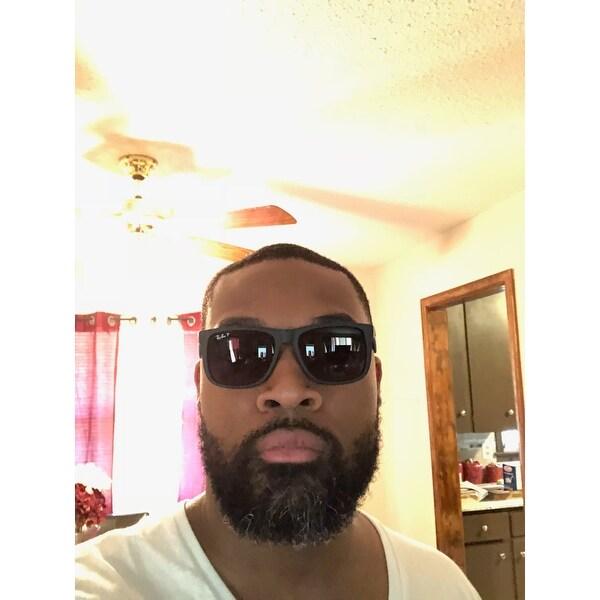 4b8989ce6435 Ray-Ban Justin Classic RB4165 Black Frame Polarized Grey Gradient 55mm Lens  Sunglasses