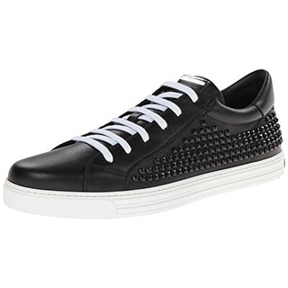 Dsquared2 Mens Vitello Sport Fashion Sneakers Leather Studded - 46 medium (d)