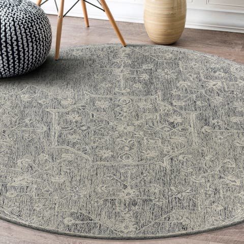 "Dazed Floral Escape Indoor Area Rug 7'9"" Round - 7'9"" Round - 7'9"" Round"