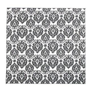 CTM® Damask Print Bandana - Black and White - One Size