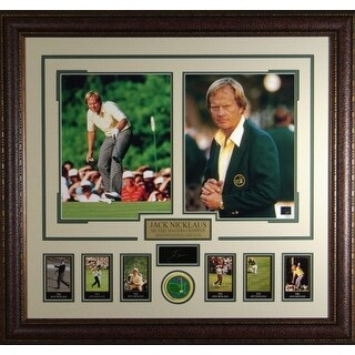 Jack Nicklaus unsigned Engraved Collection 30x32 Custom Framed