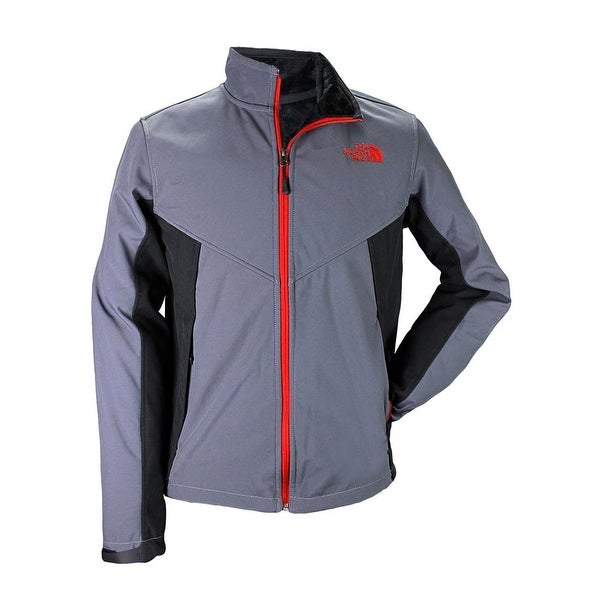 The North Face Men Chromium Thermal Full Zip Basic Jacket Charcoal/Red