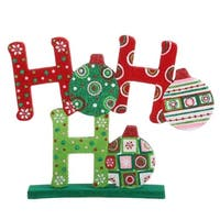 "13"" Christmas Brites Fun and Festive ""HO HO HO"" Table Top Decoration - multi"