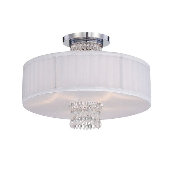 Designers Fountain 83911 3 Light Semi-Flush Mount Ceiling Fixture from the Candence Collection