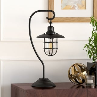Link to Carbon Loft Ecthelion Blackened Bronze Nautical Lantern Lamp Similar Items in Table Lamps