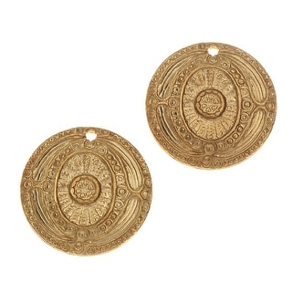 Link to Vintaj Vogue Decorative Charms, Ancient Coin 16mm, 2 Pieces, Raw Brass Similar Items in Jewelry & Beading
