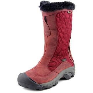 Keen Betty Boot II Women Round Toe Leather Burgundy Winter Boot