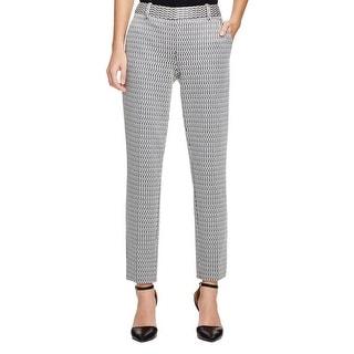Theory Womens Treeca CLK Skinny Pants Textured Pattern