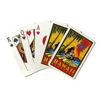 Waikiki, Hawaii - Lantern Press Artwork (Poker Playing Cards Deck)