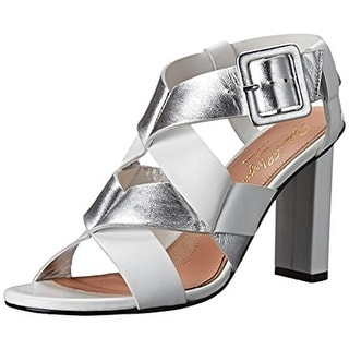 Robert Clergerie Womens Lissia Dress Sandals Leather Metallic