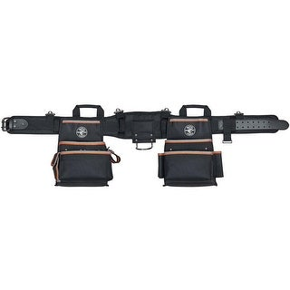 "Klein Tools 55428 Tradesman Pro Electrician's Tool Belt, Large, 35""-39"" Waist"
