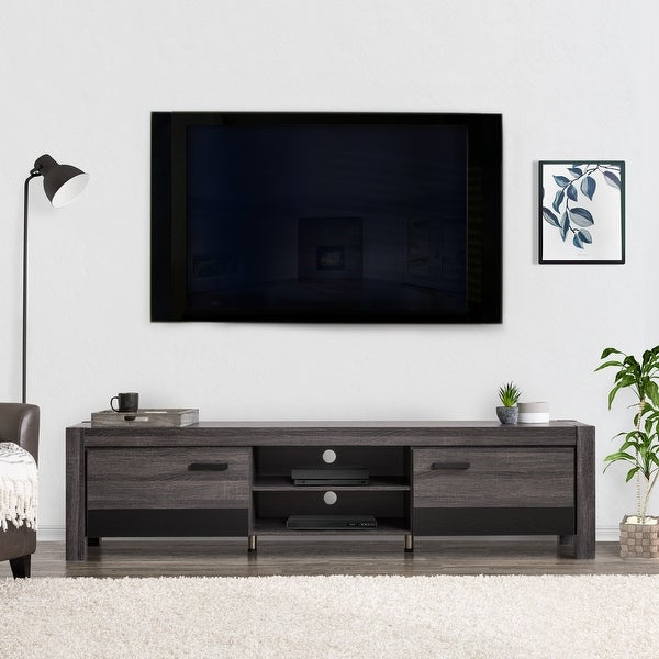 """CorLiving Joliet Duotone TV Bench for TVs up to 95"""". Opens flyout."""