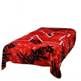 Comfy Feet NEBTH Nebraska Throw Blanket - Bedspread