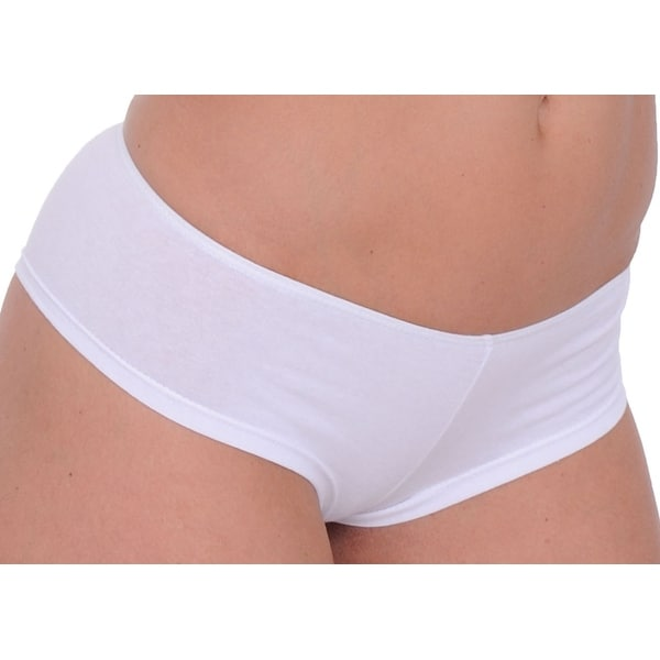 04c350f2fbda Women's Basic White Booty Hot Boy Shorts Panties Sexy Hipster Underwear