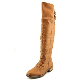 Qupid Relax-01X Round Toe Synthetic Knee High Boot