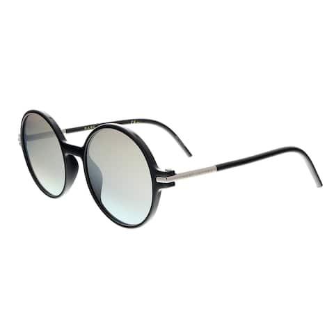 418c8e4778f73 Marc Jacobs MARC 48 S 0D28 GY Shiny Black Round Sunglasses - 52-21