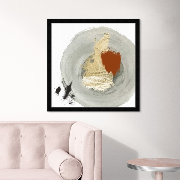 Oliver Gal 'Eclec' Abstract Wall Art Framed Print Paint - Gray, Gold. Opens flyout.