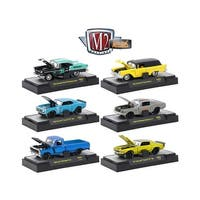 Auto Mods 6 Cars Set Release 6 IN DISPLAY CASES 1/64 Diecast Model Cars by M2 Machines