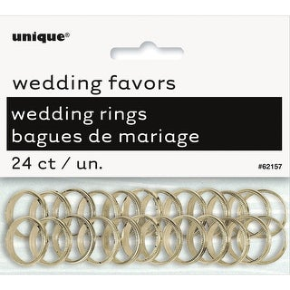 Wedding Rings 24/Pkg-Gold