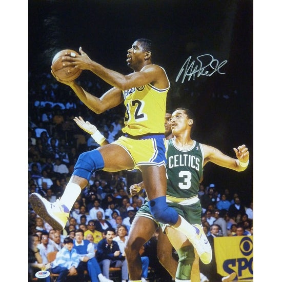 c92fd640d Shop Magic Johnson Autographed Los Angeles Lakers 16x20 Photo vs Dennis  Johnson w PSA DNA - Free Shipping Today - Overstock - 13271975