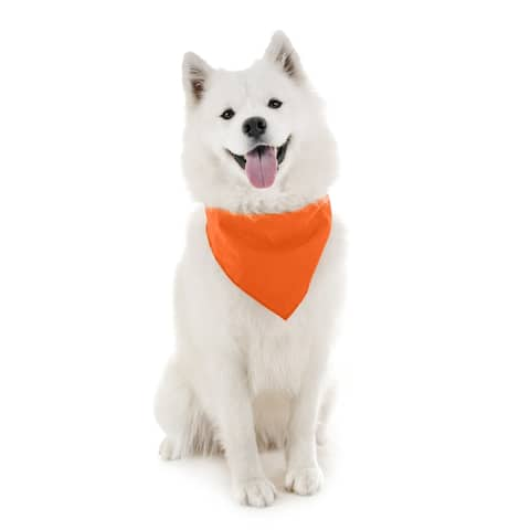 Dog Bandanas - 6 Pack - Scarf Triangle Bibs for Small, Medium and Large Puppies, Dogs and Cats - One Size