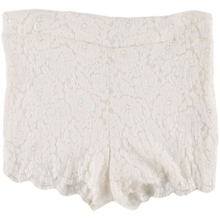 Free People Womens Lace Lined Casual Shorts