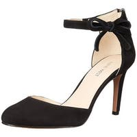 Nine West Womens Howley Leather Closed Toe Ankle Strap D-orsay Pumps