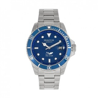 Heritor Automatic Lucius Bracelet Watch w/Date - Silver/Blue
