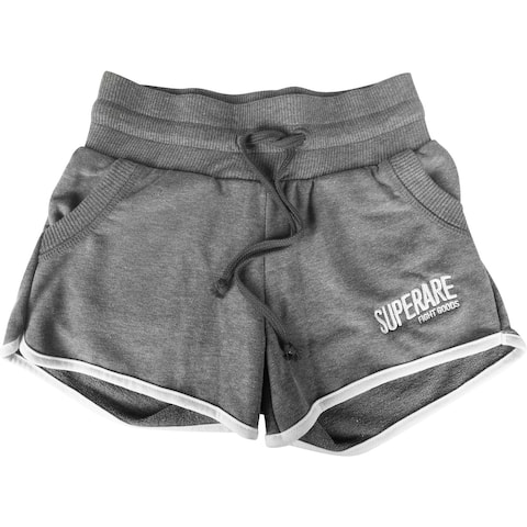 Superare Women's French Terry Retro Shorts - Gray