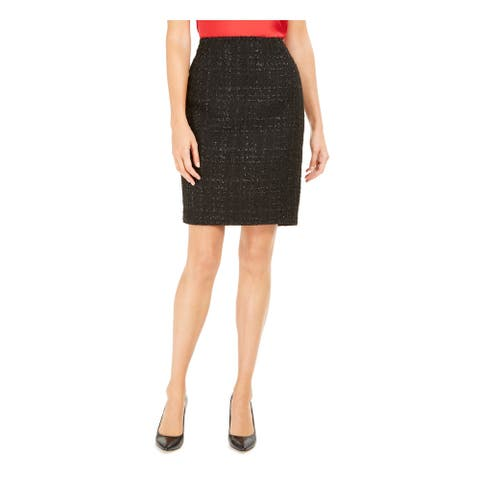 CALVIN KLEIN Black Above The Knee Skirt 12P