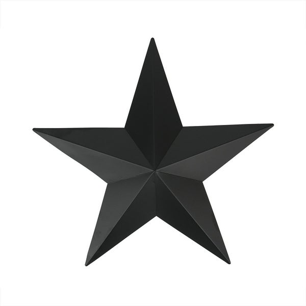 3' Matte Black Country Rustic Star Indoor/Outdoor Wall Decoration