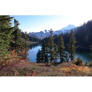 Lake, Landscape And Mountain Photograph Art Print