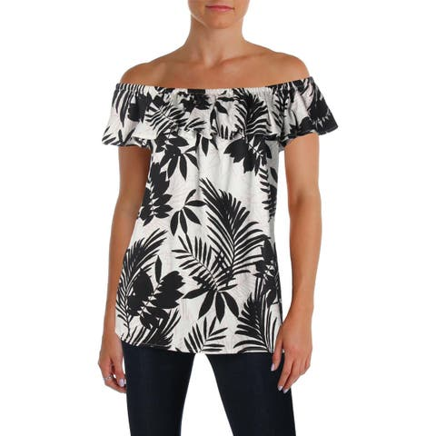 NYDJ Womens Casual Top Knit Printed