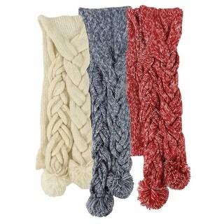 American Rag Women's Tonal Marled Braided Scarf - One size