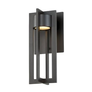 """WAC Lighting WS-W48612 Chamber Single Light 12"""" High Integrated LED Outdoor Wall Sconce"""